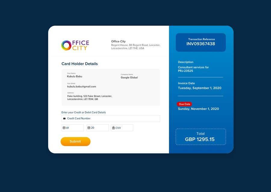 Конкурсная заявка №                                        7                                      для                                         Payment website design, CSS with Bootstrap 4