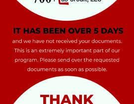 Nro 26 kilpailuun Need (5) individual flyers / graphics made for automatic emails sent to credit repair clients käyttäjältä mehedia234