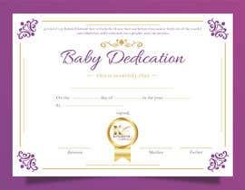 #22 para Baby Dedication Certificate por eyatamarzist
