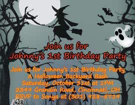 Nro 80 kilpailuun Quick Invitation Design, Halloween Birthday käyttäjältä zarinwaishi