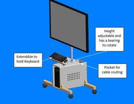 #5 para 3D model of monitor stand with inbuilt computer case por khurrummah85