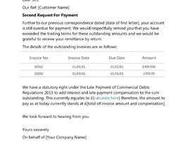 #9 cho Letter for monies owed bởi hafsahkhan04