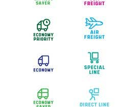 #84 untuk Group of shipping type icon oleh fal5a76ab656ebee