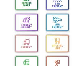 #97 untuk Group of shipping type icon oleh fal5a76ab656ebee
