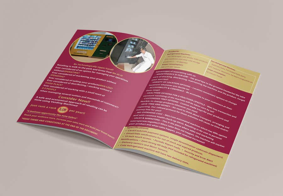 Contest Entry #                                        17                                      for                                         Design a Product brochure. A4 paper size for each page.