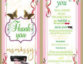 #69 for I need to create an insert/thank you card by Trisnadas