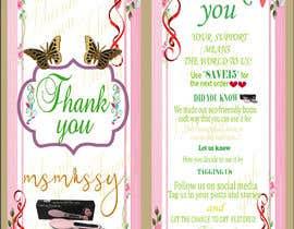 #69 untuk I need to create an insert/thank you card oleh Trisnadas