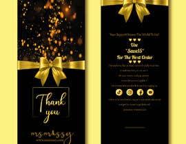 #57 untuk I need to create an insert/thank you card oleh tahminamitu53