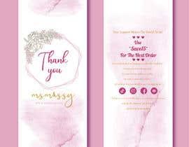 #59 untuk I need to create an insert/thank you card oleh tahminamitu53