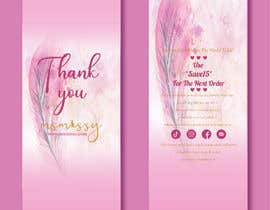 #60 for I need to create an insert/thank you card by tahminamitu53