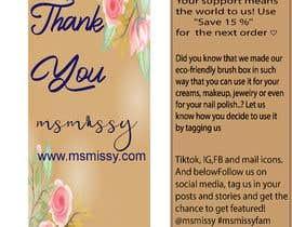 #55 untuk I need to create an insert/thank you card oleh arafatsaiful123