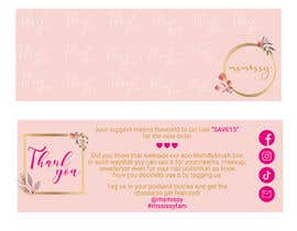 #62 untuk I need to create an insert/thank you card oleh graphicmist20