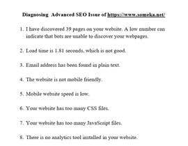 #16 cho Diagnose Advanced SEO Issue and Submit Your Finding bởi riyad05
