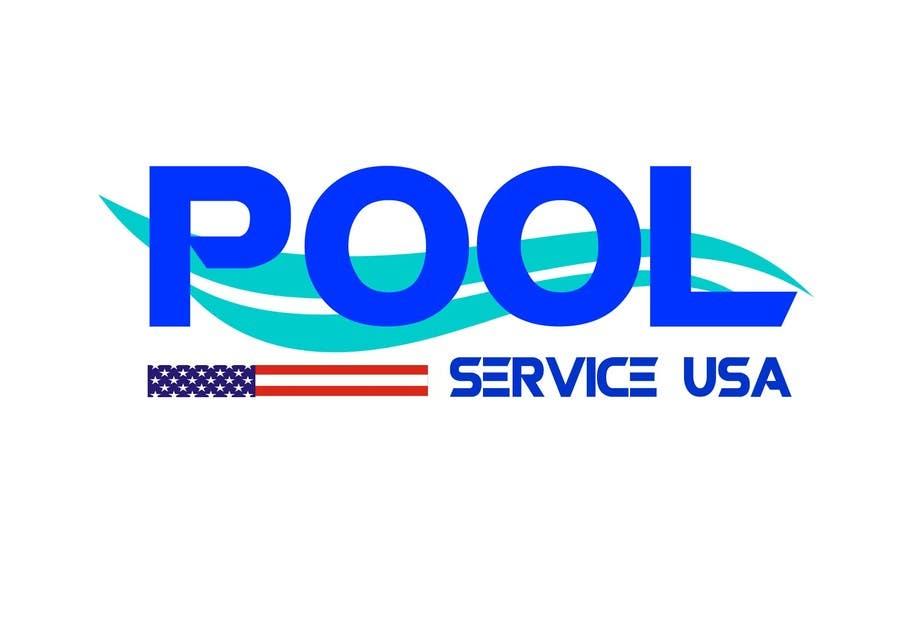 Konkurrenceindlæg #                                        25                                      for                                         Pool Service USA Logo