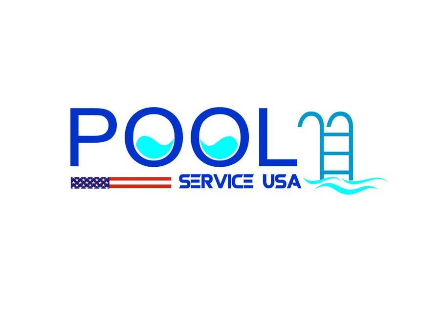 Konkurrenceindlæg #                                        54                                      for                                         Pool Service USA Logo