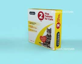 Nro 7 kilpailuun Design concept and 3D renders for a box containing 2 tablets against fleas and ticks for cats käyttäjältä meraj07