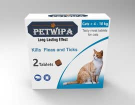 Nro 13 kilpailuun Design concept and 3D renders for a box containing 2 tablets against fleas and ticks for cats käyttäjältä siva3dworks