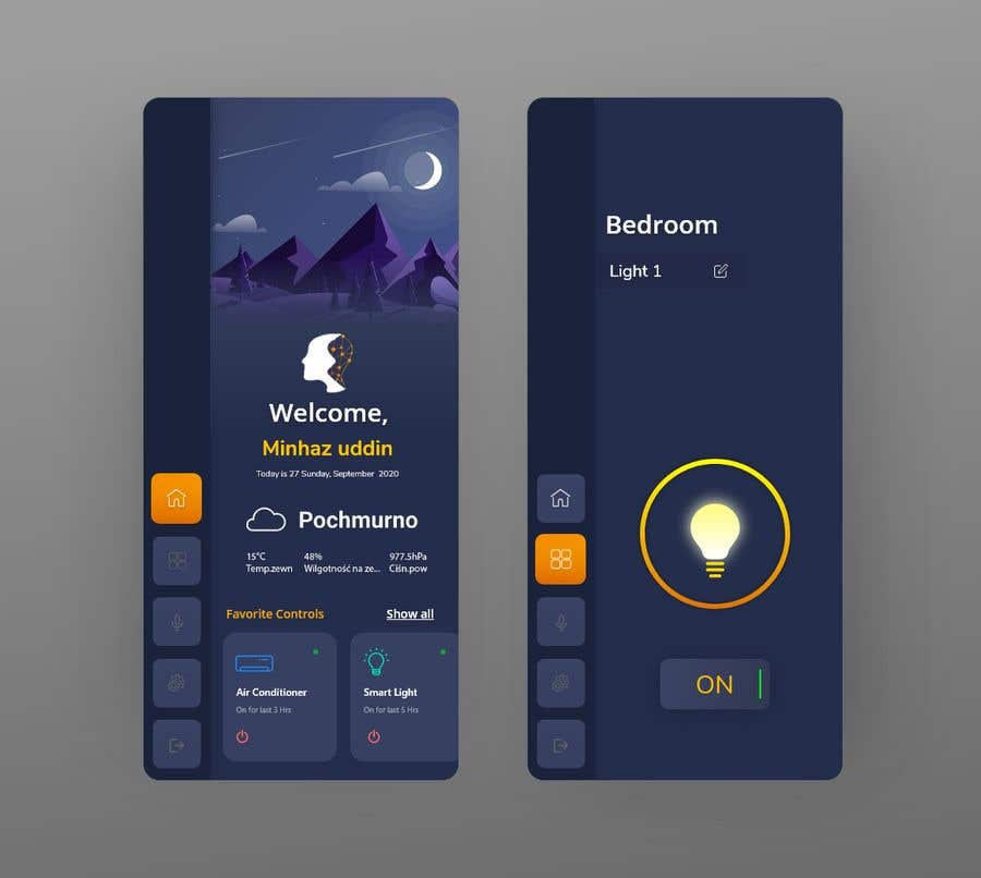 Contest Entry #                                        38                                      for                                         Mobile app design for smart home