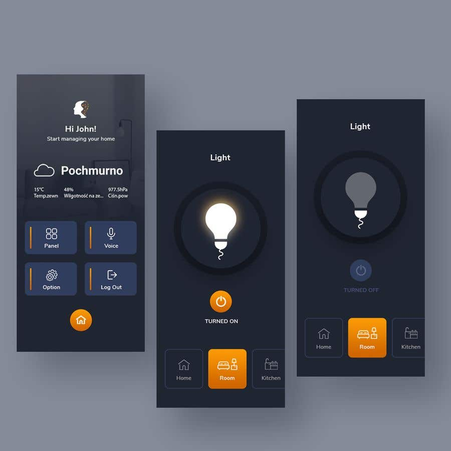 Contest Entry #                                        22                                      for                                         Mobile app design for smart home