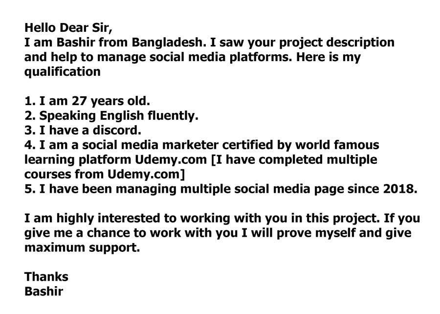 Kilpailutyö #                                        6                                      kilpailussa                                         Need a Social Media Manager (Instagram, Facebook and Twitter) $100/month