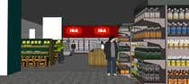 3D Rendering Inscrição do Concurso Nº38 para Looking for a Supermarket Design/Layout/3D model with a space of 1,499sqm