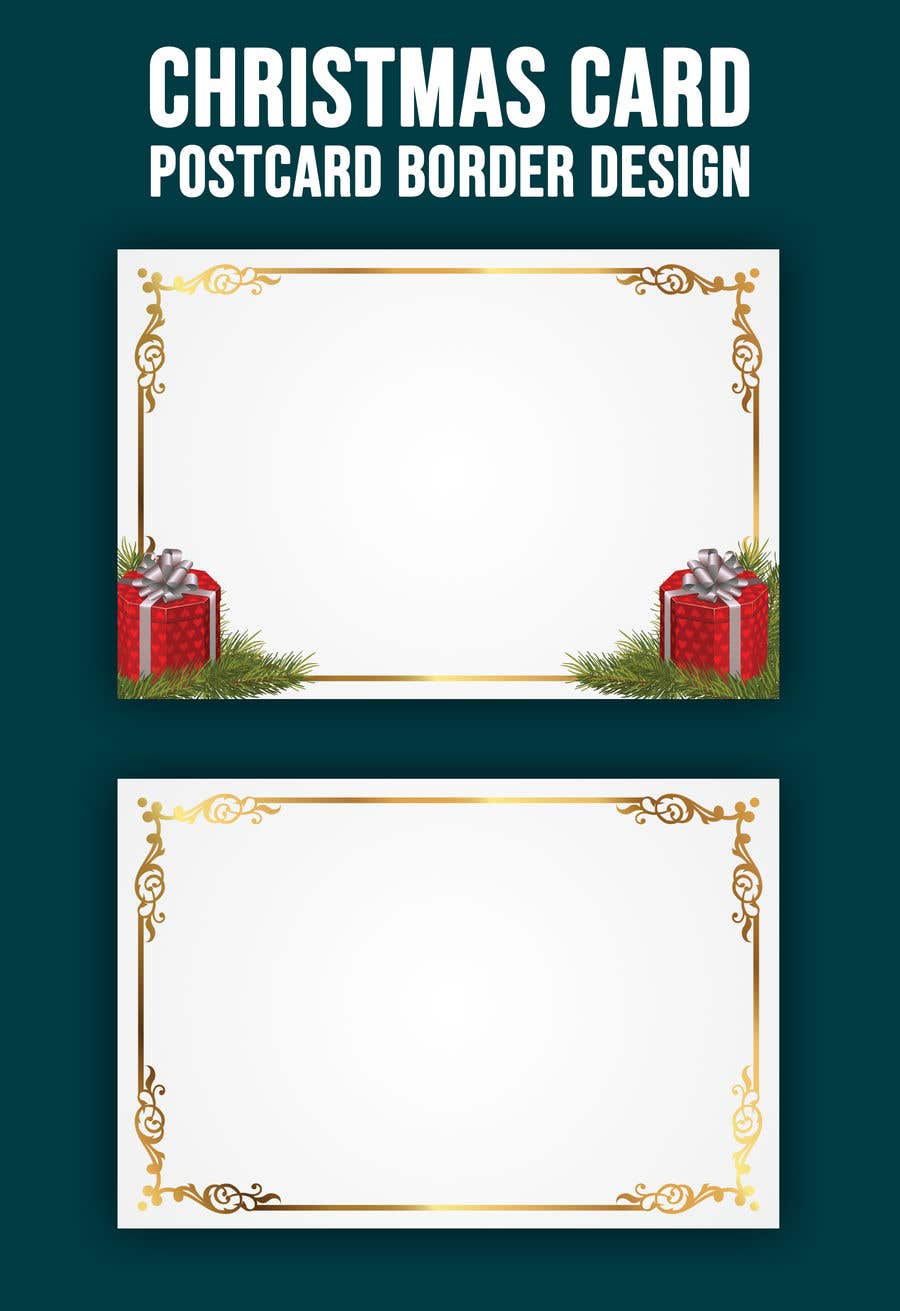 Contest Entry #                                        56                                      for                                         Christmas Card Postcard Border Design