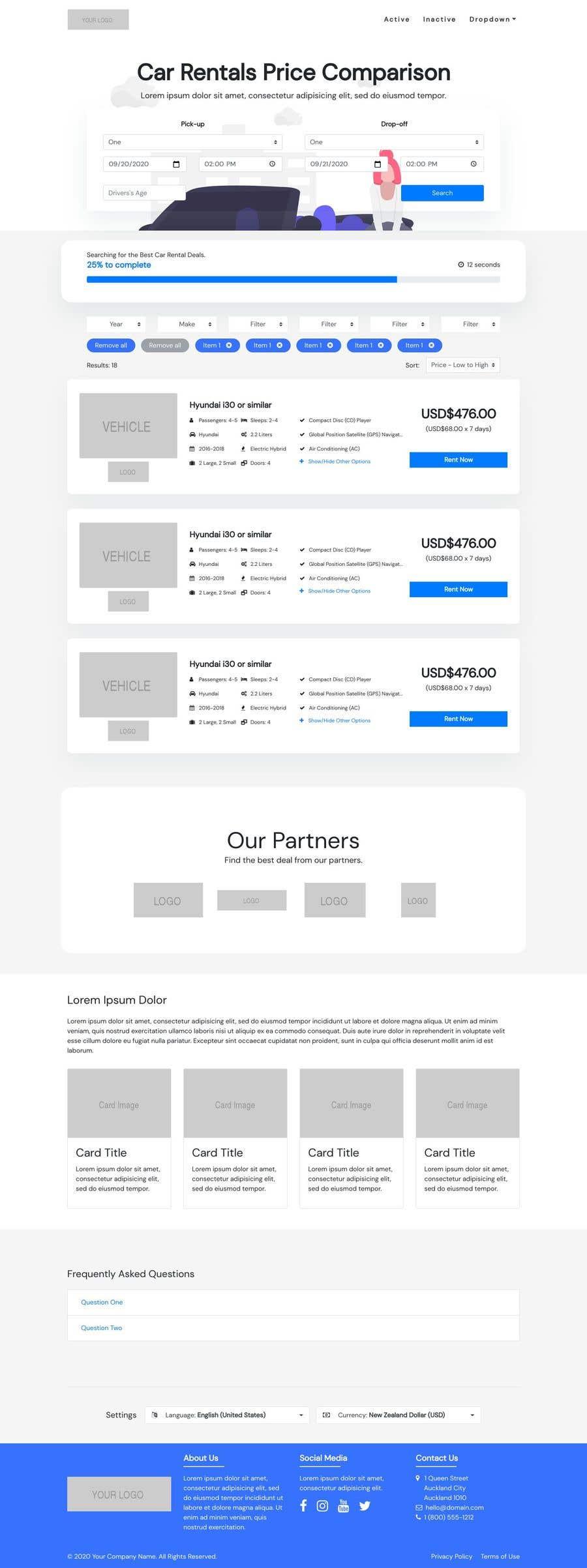 Bài tham dự cuộc thi #                                        59                                      cho                                         Front End Developer - 100% CSS Web Design