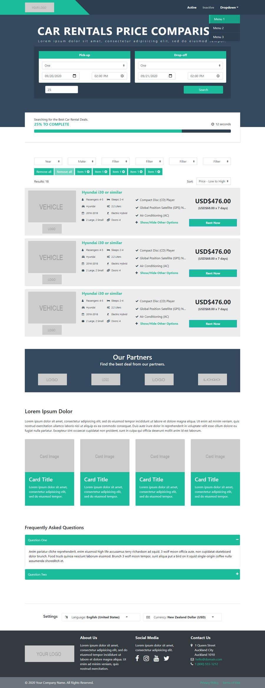 Bài tham dự cuộc thi #                                        7                                      cho                                         Front End Developer - 100% CSS Web Design