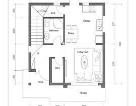 nº 63 pour Design a 2 floor house on 45sq meters plot with 2 floors par mrsc19690212