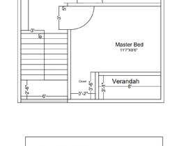 nº 84 pour Design a 2 floor house on 45sq meters plot with 2 floors par ImtiazNasim13