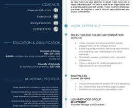 #15 cho I need 2 Academic CV format bởi Farzanaprome