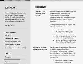 #27 cho I need 2 Academic CV format bởi Bonline57