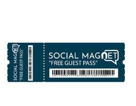 "#23 for ""Guest Pass"" Ticket graphic for Social Magnet by prince50"