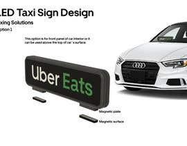 #34 для LED Taxi Window Sign design от barisekici92