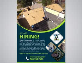#46 for Need brouchere for hiring roofers by kabirpreanka
