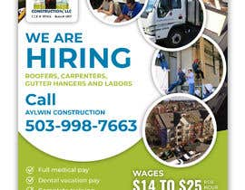 #25 for Need brouchere for hiring roofers by dmned