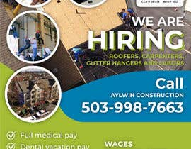 #34 for Need brouchere for hiring roofers by dmned