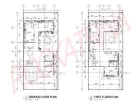 nº 8 pour Build me 2D Floor Plan for 2 Floor house! par rockatrina
