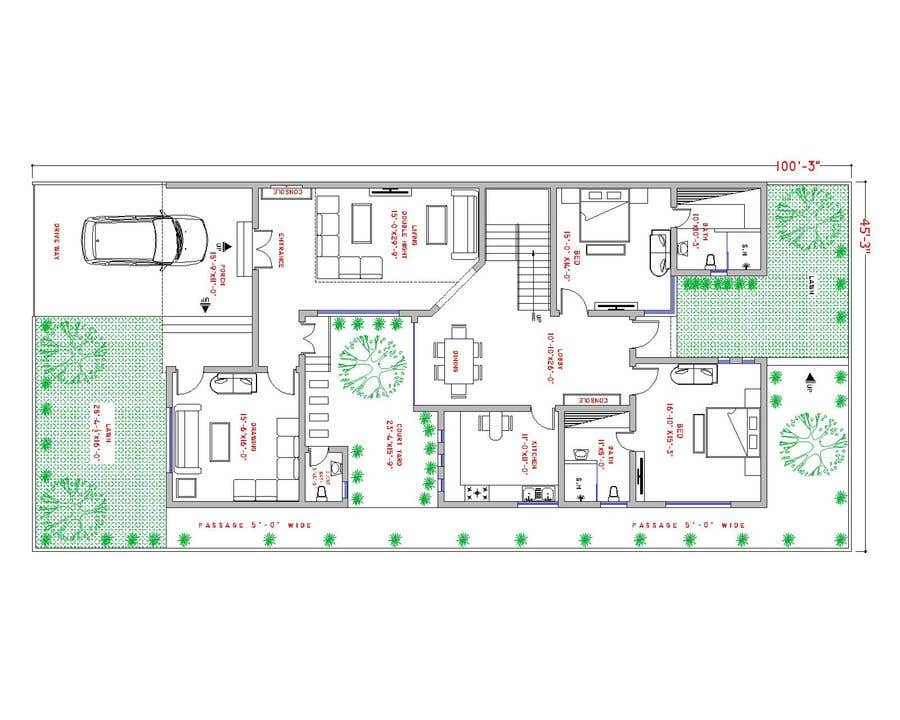 Proposition n°                                        32                                      du concours                                         Build me 2D Floor Plan for 2 Floor house!