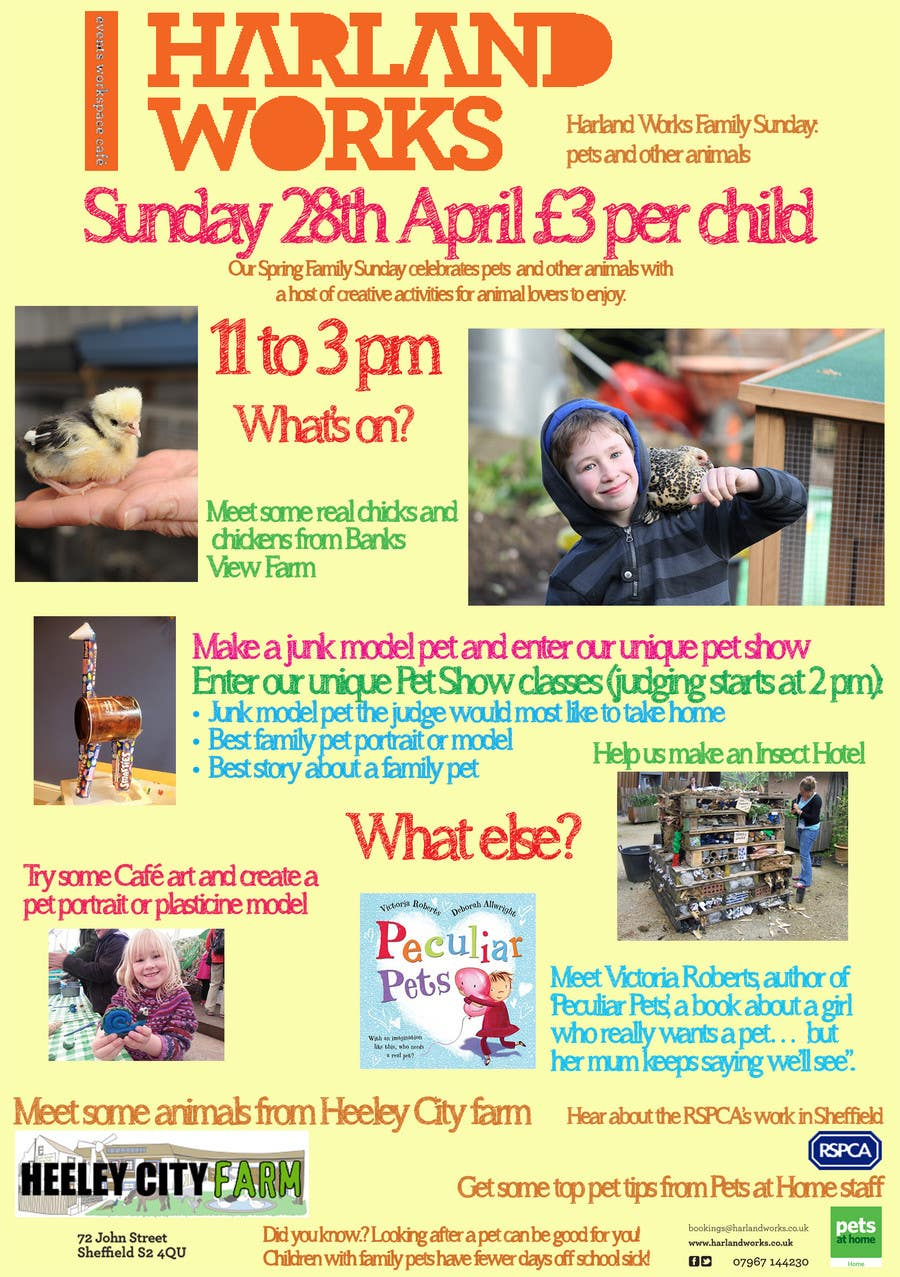 Contest Entry #                                        19                                      for                                         Flyer Design for Harland Works Spring Family Sunday