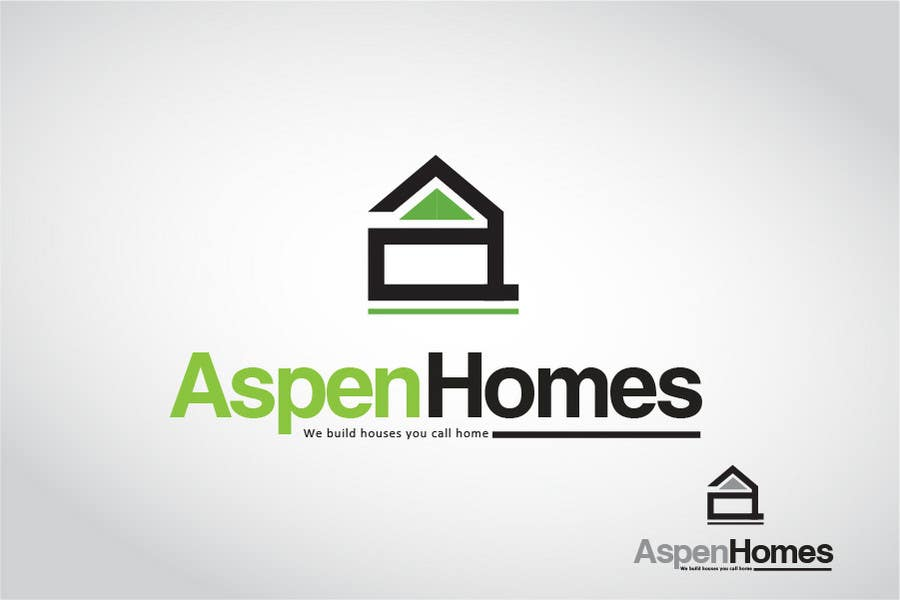 Entry 467 by calolobo for logo design for aspen homes nationally recognized new home builder - Homes logo designs ...