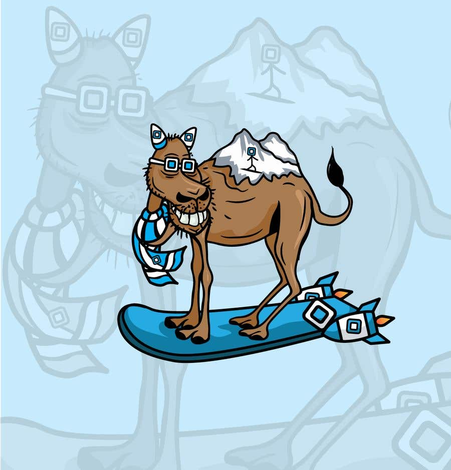 Contest Entry #                                        45                                      for                                         Design for Hoodie (Snowboarding Camel with mountains as humps)