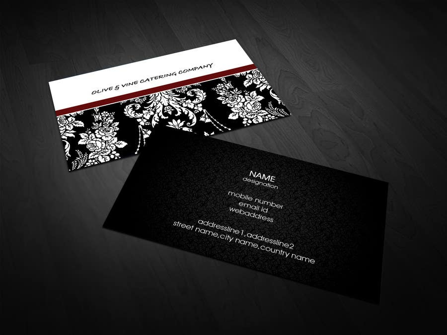 Print Contest Entry #13 for Business Card Design for Catering Company
