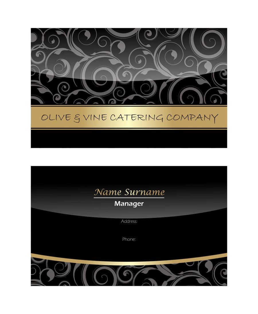 Entry 34 by doelqhym for business card design for catering company contest entry 34 for business card design for catering company reheart Image collections