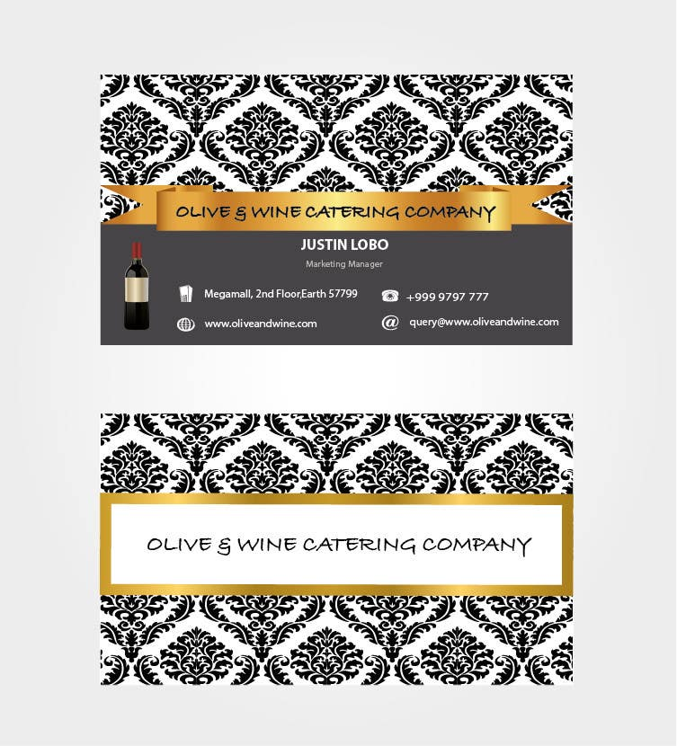 Entry 30 by preethamdesigns for business card design for catering contest entry 30 for business card design for catering company reheart Image collections
