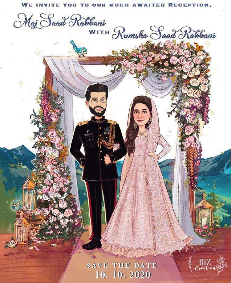 Penyertaan Peraduan #                                        30                                      untuk                                         Wedding Card Illustration