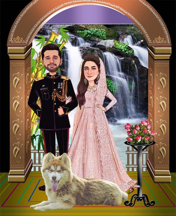 Penyertaan Peraduan #                                        53                                      untuk                                         Wedding Card Illustration