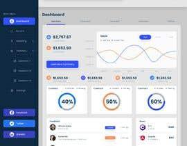 #12 for Finance Dashboard Single Page Mockup Design and Color Palette af ms471992