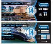 Invitation to Exclusive Event - Boarding Pass Style için Graphic Design41 No.lu Yarışma Girdisi