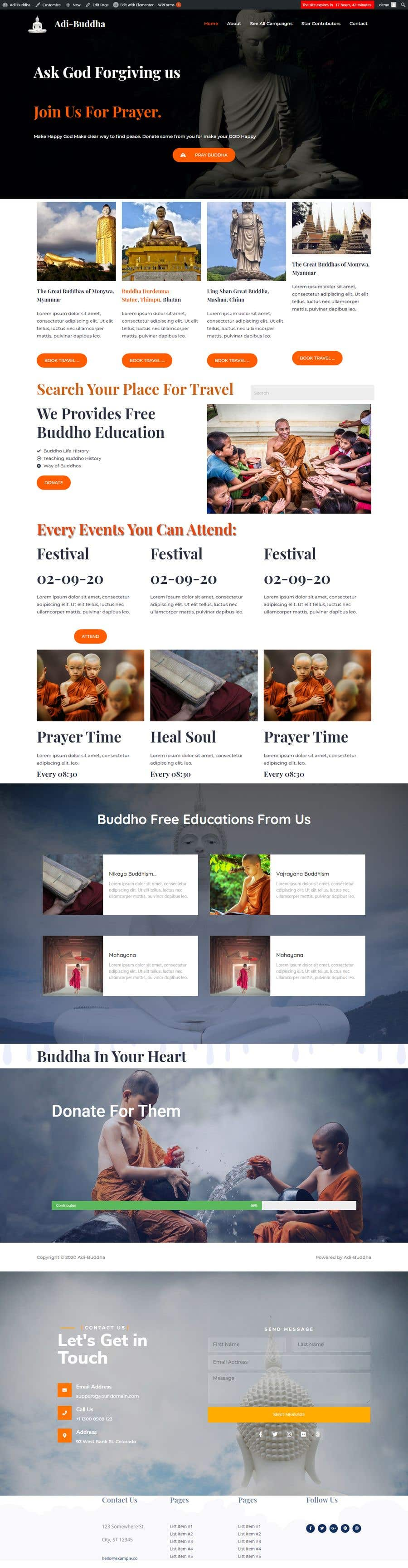 Konkurrenceindlæg #                                        40                                      for                                         A Professional Web Designer is require to design a Buddhist Charity Website